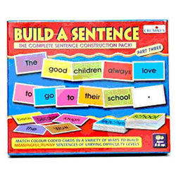 A complete sentence construction pack for a memorable experience. The objective of this game is to introduce the concept of different parts of speech and to develop reading skills of the kids. Send this learning kit to India to little ones.