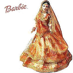 Coming in all the grandeur of an Indian wedding dress, this barbie can be an appropriate playmate for your little sweetheart. Make your sweetheart reach the heights of her imagination when she travels to a world of her own while playing with this Barbie.