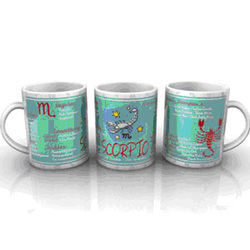 This zodiac mug gives you the opportunity to send an unique gift to your loved ones with the zodiac sign of Scorpio. Imprinted with characteristic traits and the compatibility options, this mug is definite to attract attention.