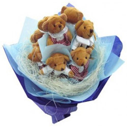 Enough of Boredom? Try our all new Bouquet of Teddies. Arranged for her perfect Smile!