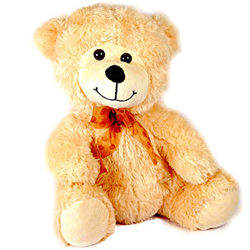 This teddy bear will surely bring a smile on your loved one's face. This sweet and cute teddy has a ribbon around its neck that makes it look smart.