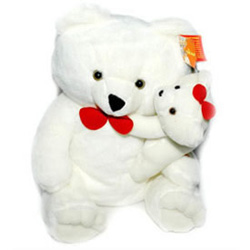 This cute pair of mama teddy with a baby teddy will surely bring a big smile on the recipient's face. Thus, send these adorable teddies to your dear ones in India.<br>Size: 14 Inches.<br> colour may vary as per available, usually white, link pink and light brown are choices.