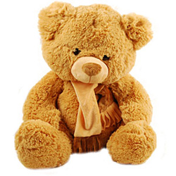 This teddy will make your dear one love you all the more. Distances play a crucial role in every relationship. <br>Height : 16 Inches <br>Note : The colour of the teddy might vary according to the availability.