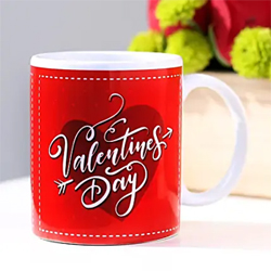 Made of China Clay, this coffee mug is the best gift that you may present to your dear one in India on any occasion