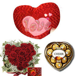 30Red roses Heart Basket Beautiful soft 'Red Heart Heart shape Cherir Heart chocolates box