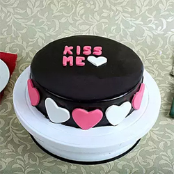 This chocolate Truffle cake as a valentines gift, will definitely add smile on your loved once face.