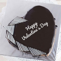 Valentine's Day Heart Shaped Chocolate Cake - 1 kg