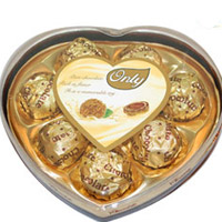 Only Heart shape chocolates - 8 pcs weight:100 gms