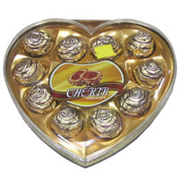 Cherir Chocolate (12 pieces) - Heart Shape Box