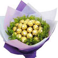 16 Pcs Ferrero Rocher chocolate bouquet will surprise anyone!, Flowers to Bangalore