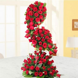 Pure romance, pure tradition, pure red roses,Send this 100 red roses long arrangement to someone you love, because, with roses like these, they're sure to love you back.