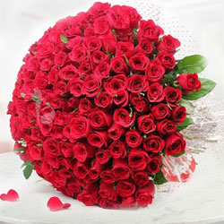 grand arrangement of 250 fresh red roses along-with seasonal fillers wrapped in an attractive imported paper packing., Flowers to Bangalore