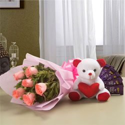10 Pink Roses Pink Packing Paper