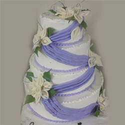 6kg 3tier multi floral cake and allow us to make the most glamourous cake  beautiful wedding Pinepple cake.Note the images, shade, size, design of the cake are only indicative in nature.