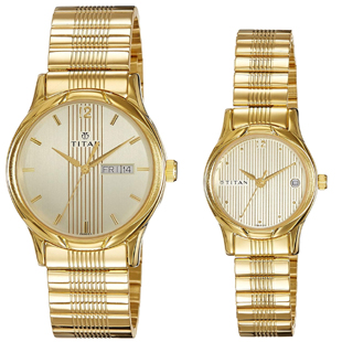 Titan Brand Couple  Watches