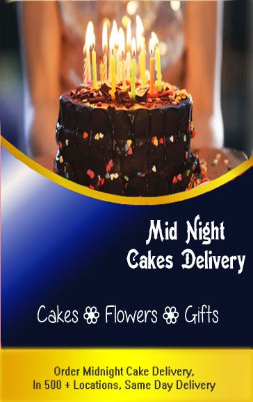 Midnight cakes to India